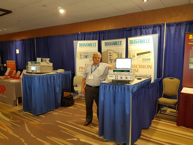 Joe Santo from SRP controls at the Transmille Booth
